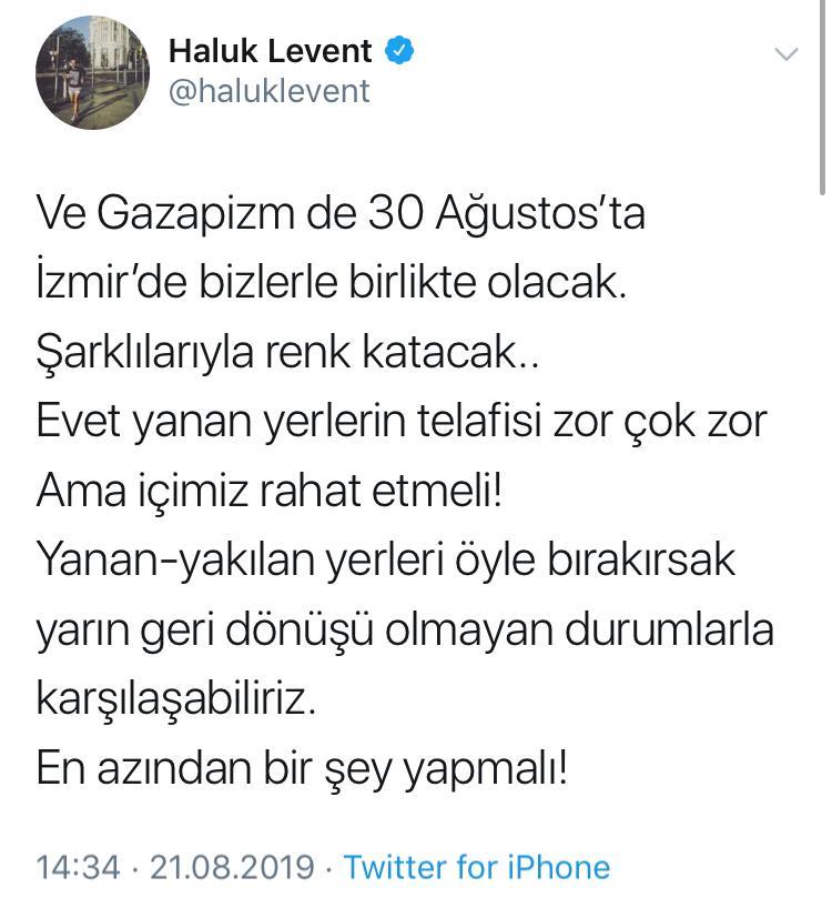 Anıl Piyancı ve Gazapizm de İzmir Yangını İçin Sahne Alacak