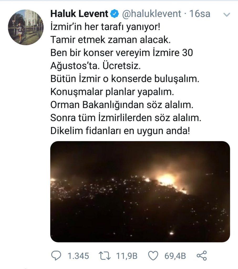 Ünlü İsimler İzmir Yangını İçin Büyük Bir Konser Verecek!