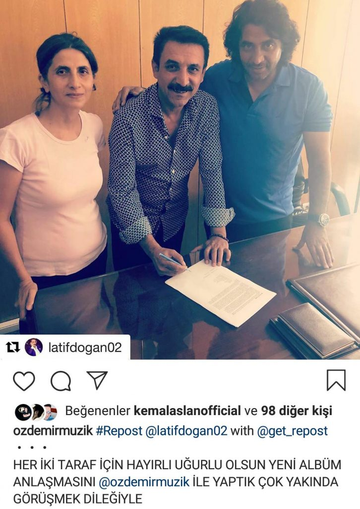 Latif Doğan Yeni Albüm İçin Anlaşma İmzaladı