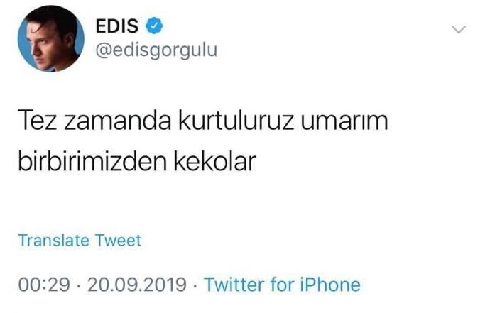 Edis'in Tweeti Yeni Bir Polemiği Ateşler mi?..