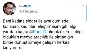 """Kıraç'tan """"Kadına Şiddet"""" Eleştirilerine Sert Yanıt"""