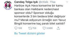 """Ünlü Gazeteci Halkbank'a Sordu: """"Harbiye'ye Neden Sponsor Oldun?"""""""