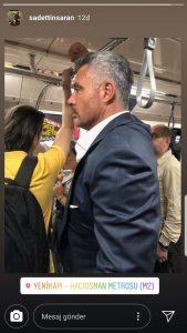 Ünlü İş İnsanı Metroda Görüntülendi