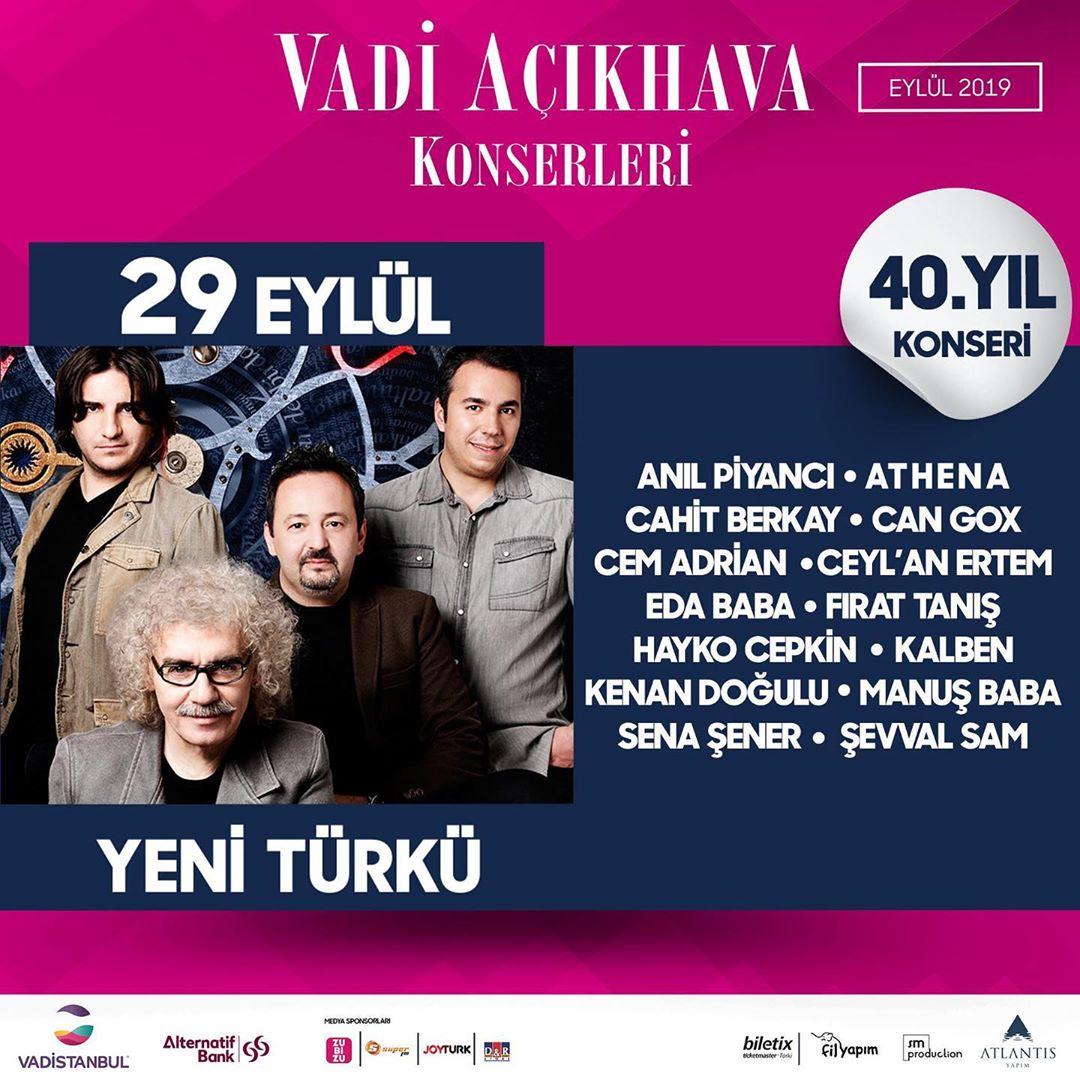 Yeni Türkü'nün 40. Yılı Vadi Açıkhava'da Kutlanıyor