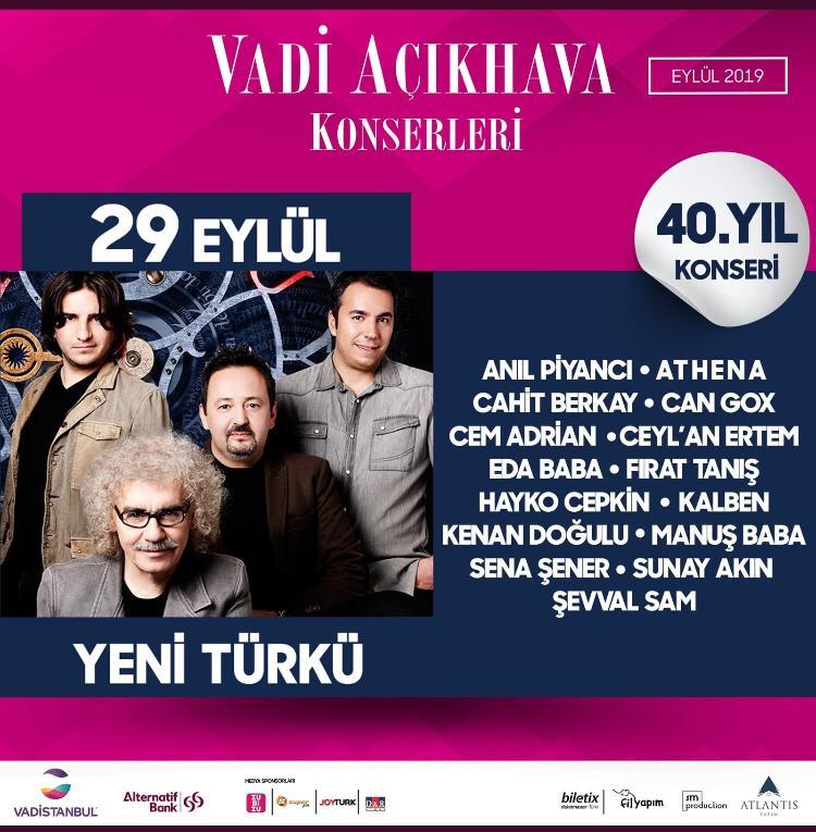 Vadi Açıkhava'da Eylül Ayında Dev İsimler Sahne Alacak!