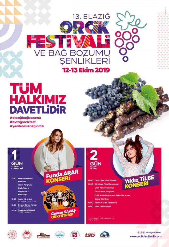 13. Elazığ Orcik Festivali'nde Yıldız Tilbe ve Funda Arar Sahne Alacak