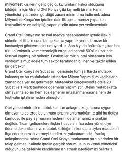 Milyonfest Konya'nın İptalinde Kim Suçlu?