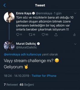 Murat Dalkılıç, Emre Kaya'ya Meydan Okudu