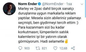 Reklam Filminde Oynayan Norm Ender'den Eleştirilere Sert Yanıt
