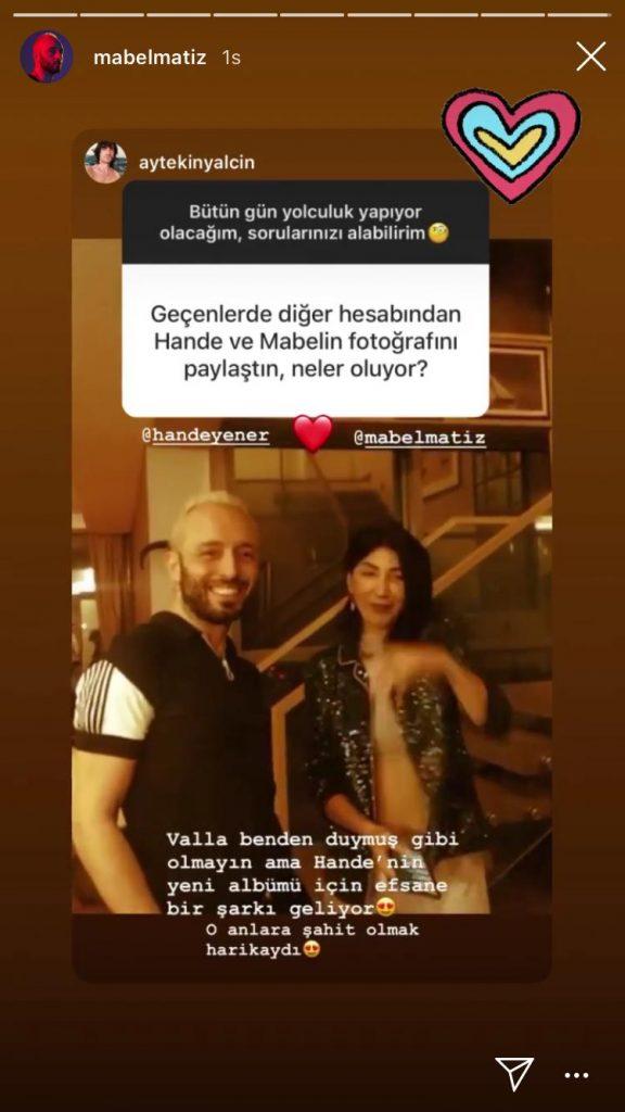 Hande Yener'den Mabel Matiz Sürprizi