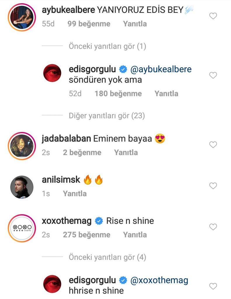 Edis'in Yatak Pozuna Olay Yorum