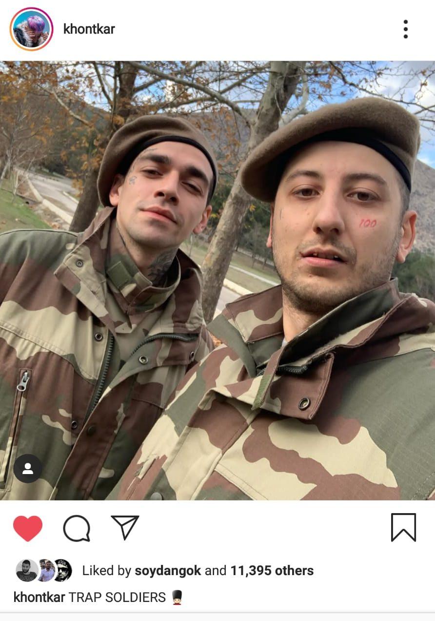 Ezhel ve Khontkar Askerlik Arkadaşı Oldu
