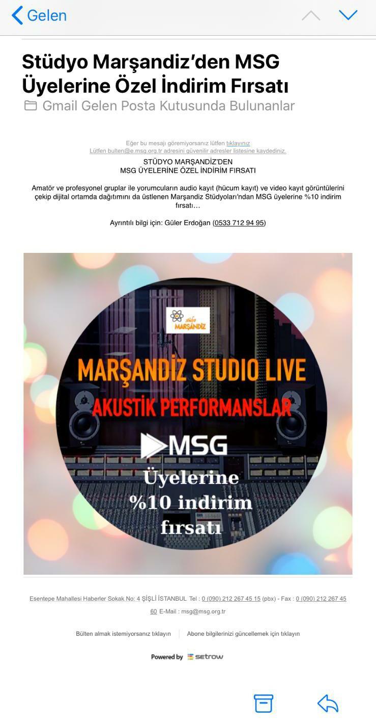 MSG'nin Attığı Mail Müzik Dünyasını Çalkaladı