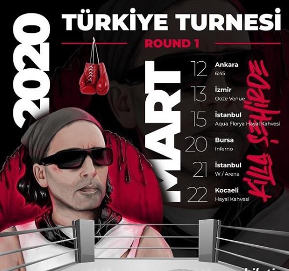 Killa Hakan Türkiye Turnesine Çıkıyor