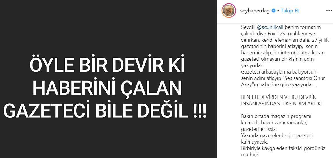Onur Akay'dan Seyhan Erdağ'a Dava