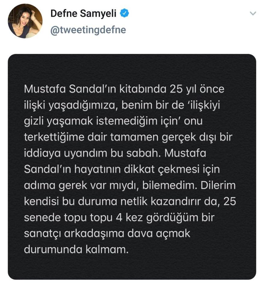 Defne Samyeli'den Mustafa Sandal'a Çağrı