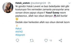 Elazığ'a Yardım Gönderen Yusuf Güney Sosyal Medyanın Gündeminde