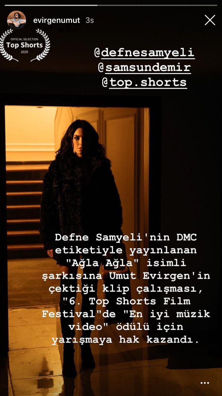 Defne Samyeli'nin 'Ağla Ağla' Klibi Film Festivalinde Yarışacak