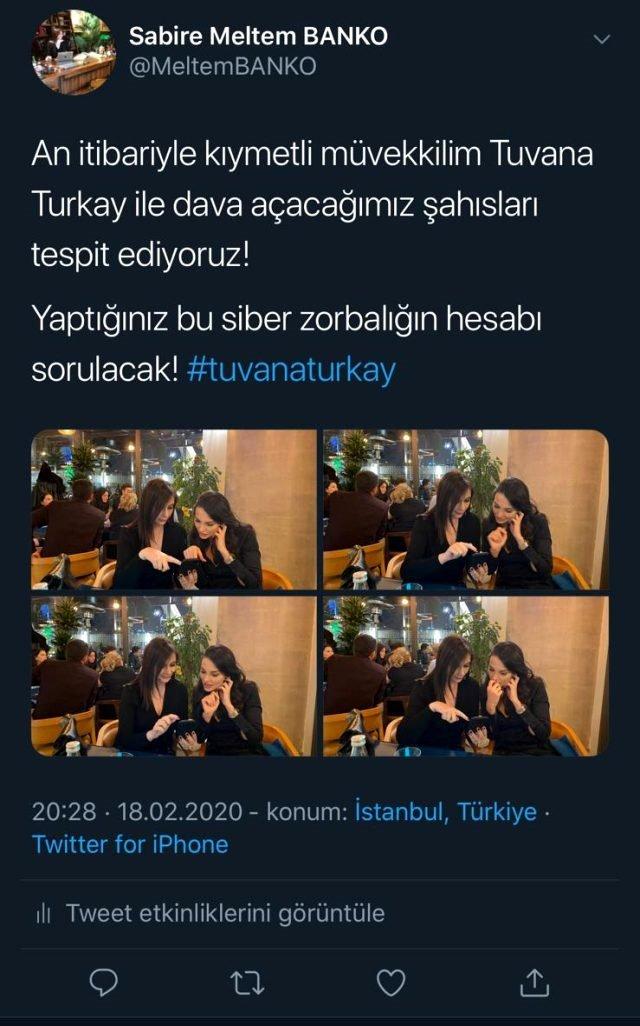 Tuvana Türkay Siber Zorbalığa Karşı Yasal Süreci Başlattı