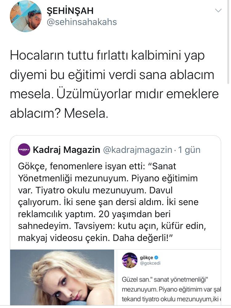 Fenomenlere İsyan Eden Gökçe'ye Yanıt Rapçi Şehinşah'tan Geldi!