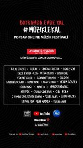 POPSAV Online Müzik Festivali Bugün Başlıyor!