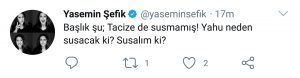 """Magazincilerin Skandal """"Deniz Bulutsuz"""" Başlığına Yasemin Şefik'ten Tepki!"""