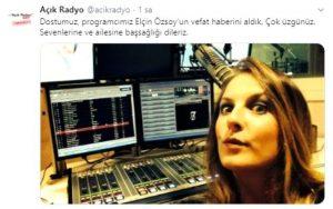 Sevilen Radyocu Elçin Özsoy Hayatını Kaybetti