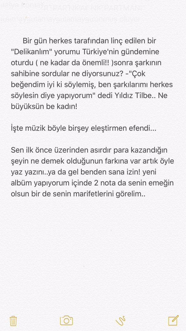 Murat Dalkılıç Ünlü Müzik Eleştirmenine Sert Cevap Verdi