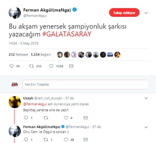 Ferman Akgül'den Galatasaray'a Şampiyonluk Şarkısı Sözü