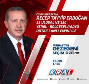 Recep Tayyip Erdoğan Seçim Öncesi Ortak Radyo Yayınında