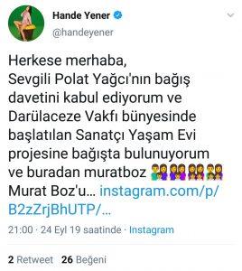 Polat Yağcı'dan Demet Akalın ve Hande Yener'e Çağrı
