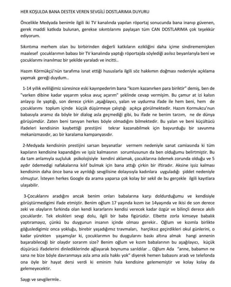 Hilal Özdemir'den Eski Eşi Hakkında Bomba İddia