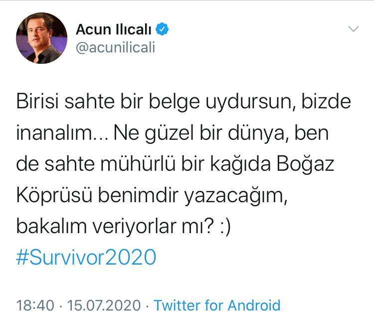 Acun Ilıcalı'yı Kızdıran Survivor İddiası!