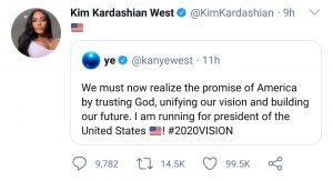 Dünyaca Ünlü Rapçi Kanye West ABD Başkanlığına Aday Oldu!