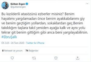 Gülben Ergen'den Linç Edilen Ebru Şallı'ya Destek!