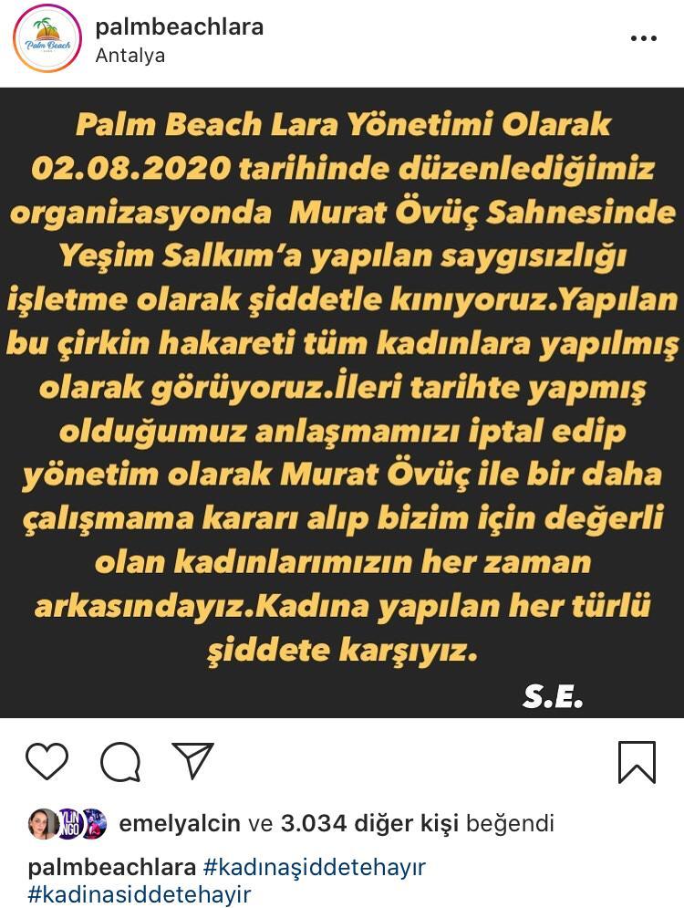 Murat Övüç'ün Sahne Aldığı Mekan Yeşim Salkım İle Anlaştı