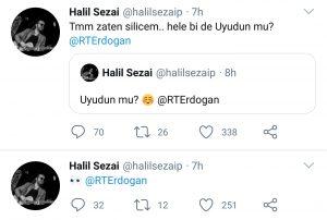 Halil Sezai'nin Cumhurbaşkanına Attığı Sarhoşça Tweetler Olay Oldu